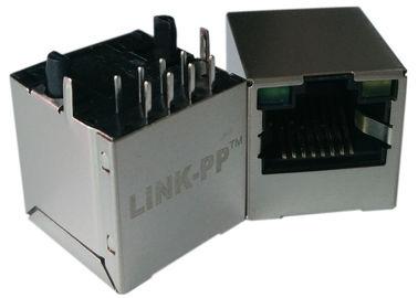 LPJD4012BENL、縦 RJ45 ジャック、1CT: 1CT、8P8C 10/100Mbps の盾 LED G-Y