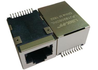 LPJ19205DNL SMT POE Rj45 ジャックのイーサネット上の 1x 10/100Mbps IEEE 802.3af 力