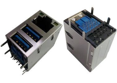 2x USB3.0コンボのジャックRJ45ギガビットのイーサネットLPJU1608AHNL盾/LEDs G-Y